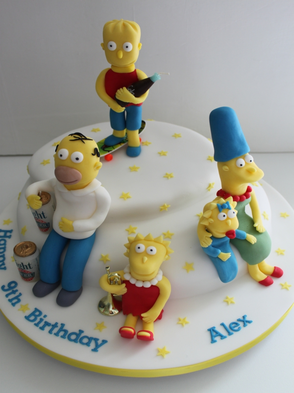 Simpsons Birthday Cake Toppers